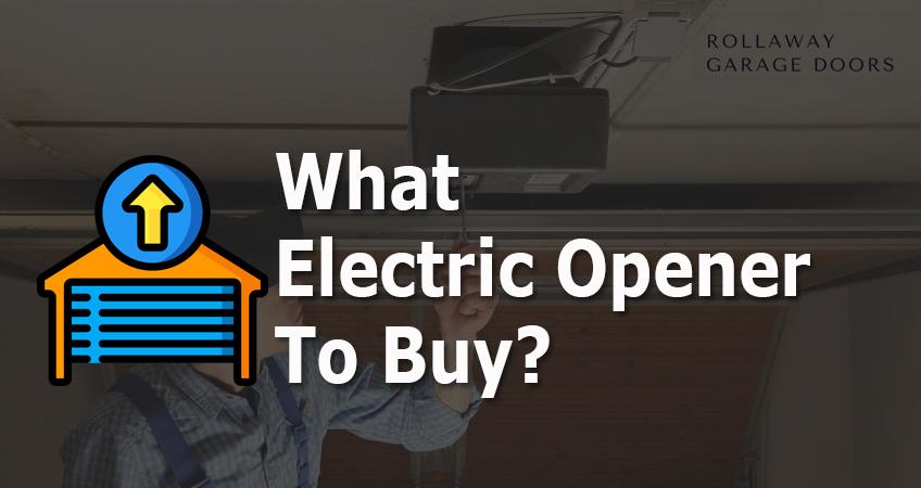 electric opener for garage doors